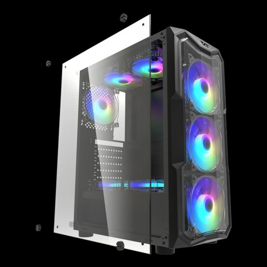 Aigo Darkflash ATX/M-ATX/ITX Tempered Glass PC Case