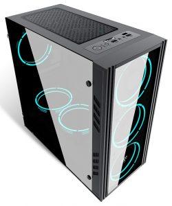 Aigo MINI-M ATX Tempered Glass Gaming PC Case