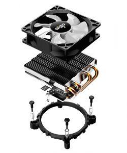 Aigo PC CPU 4 Heatpipes Fan Cooler