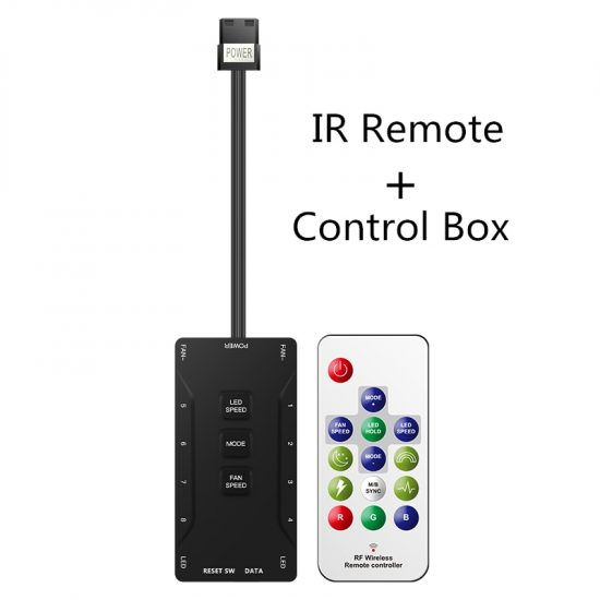 DR12 PRO light stripes light bars RGB IR remote control wireless flowing effect sync with motherboard sync with fans