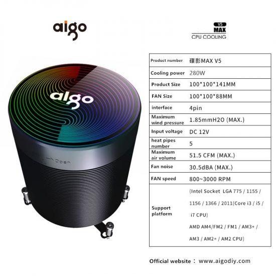 Aigo darkflash CPU Cooler Aura Sura Sync