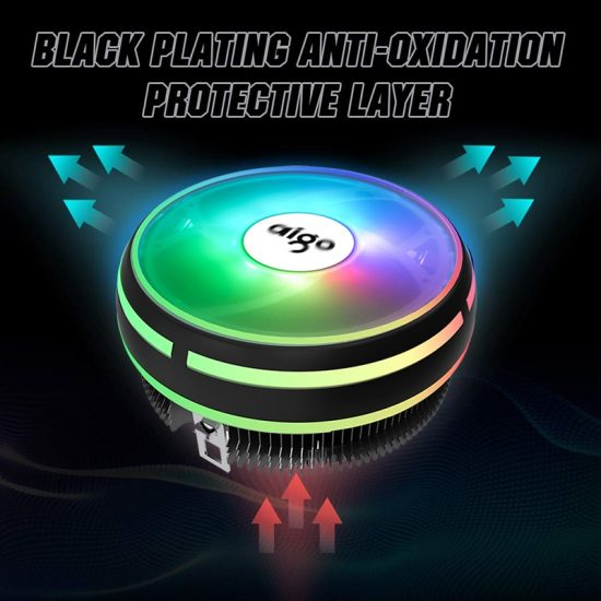 Aigo CPU Cooler Radiator 120mm PWM 12V SYNC RGB LED Fan CPU