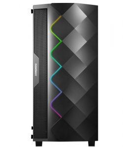 Gamemax Gaming Computer RGB PC Chassis Case Side transparent Tempered Glass MicroATX,ATX,ITX