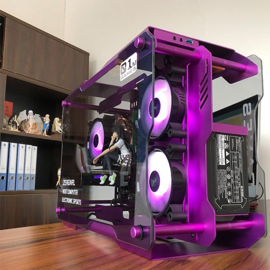 MATX ITX Motherboard DIY USB3.0 Computer Gaming Case Tempered Glass Case