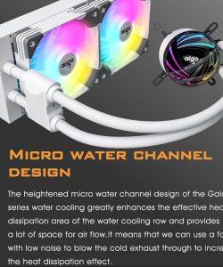 Aigo AT240 PC CPU Cooler Fan Water Cooling Water Cooler